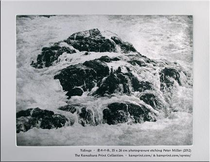 Tidings, photogravure etching, Peter Miller