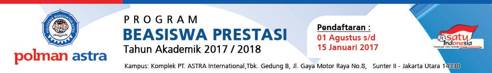 Beasiswa Politeknik Manufaktur Astra 2017