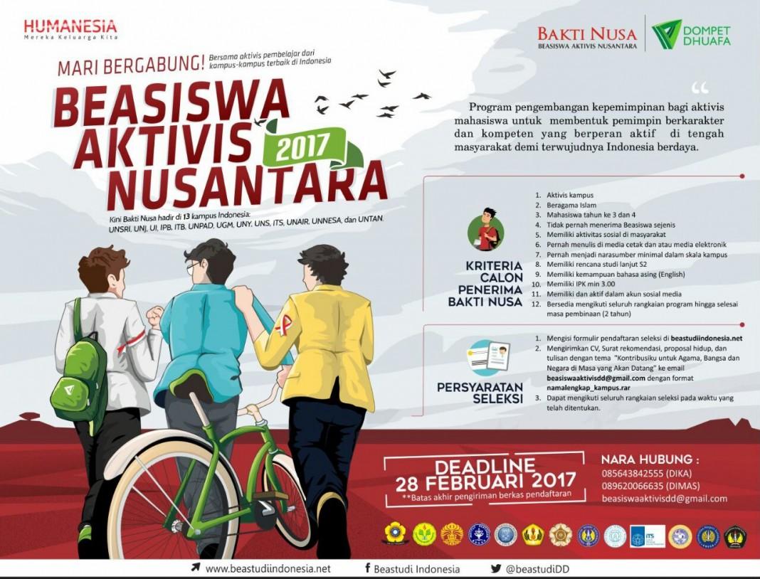 Beasiswa Aktivis Nusantara 2017