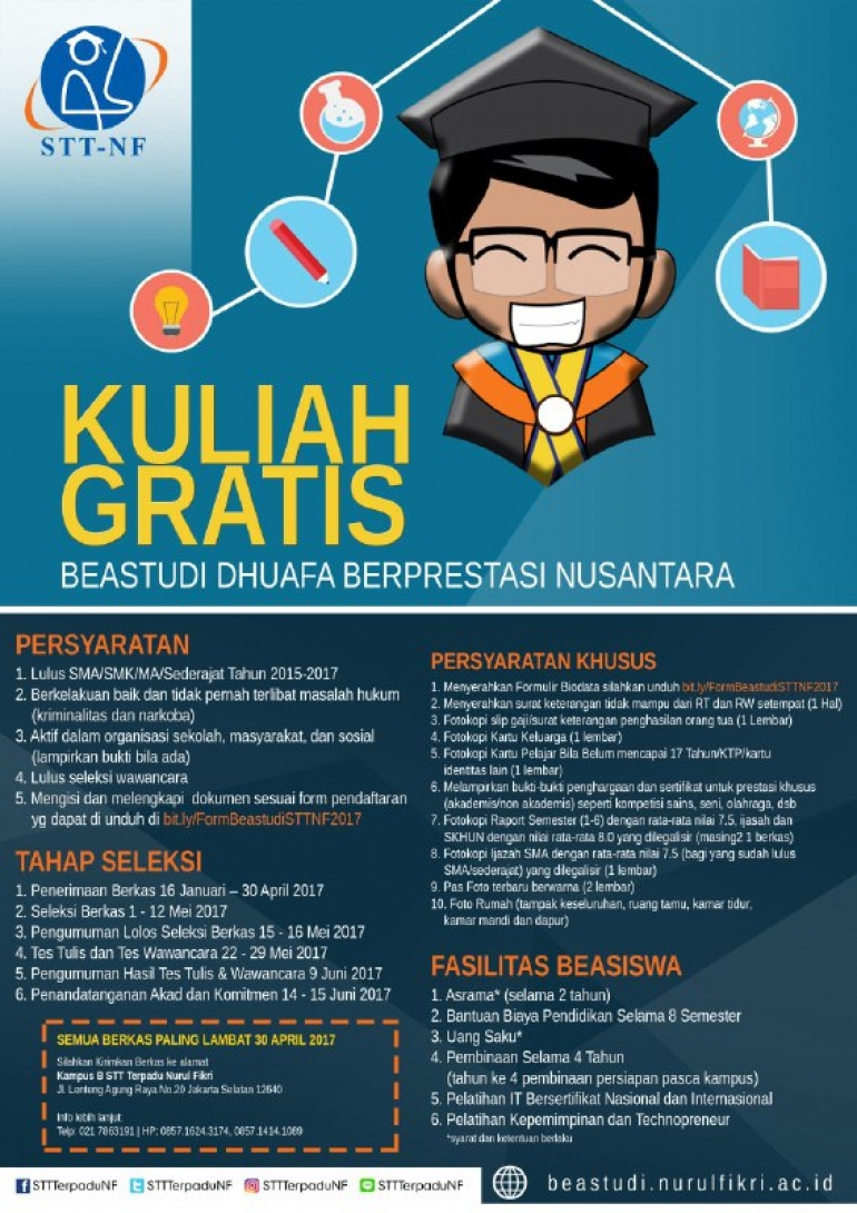Beastudi Dhuafa Berprestasi Nusantara 2017