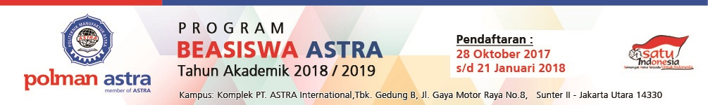 Beasiswa ASTRA 2018