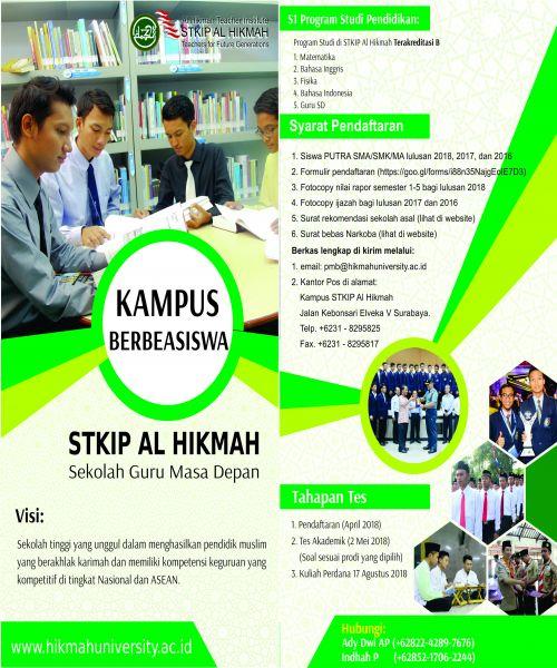 Beasiswa STKIP Al Hikmah 2018