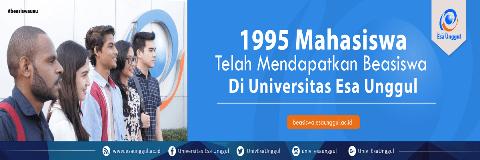 Beasiswa Indonesia Timur Universitas Esa Unggul 2018