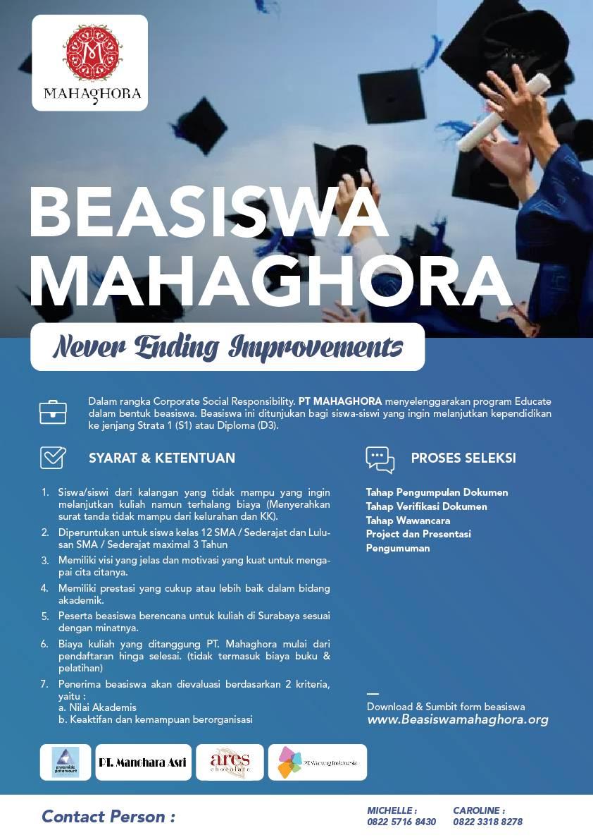 Beasiswa Mahaghora 2018
