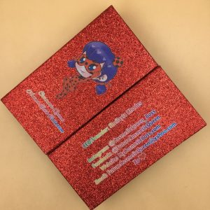 Custom Red Glitter Packaging Box