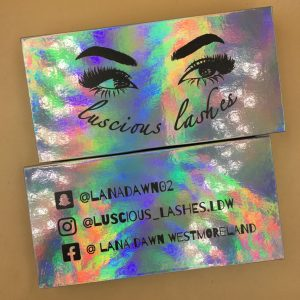 Holographic Lash packaging