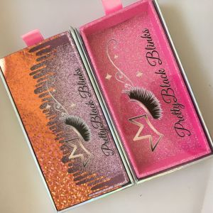 Wholesale Custom Pull Out Holographic Drop Liquid Eyelash Packaging