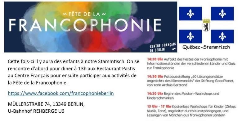 Fete Francophonie Berlin 2017