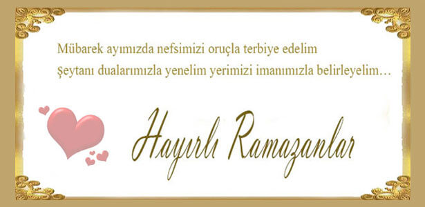 ramazan mesajı resimli
