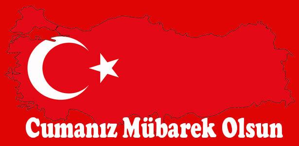 türk bayraklı cuma mesajı
