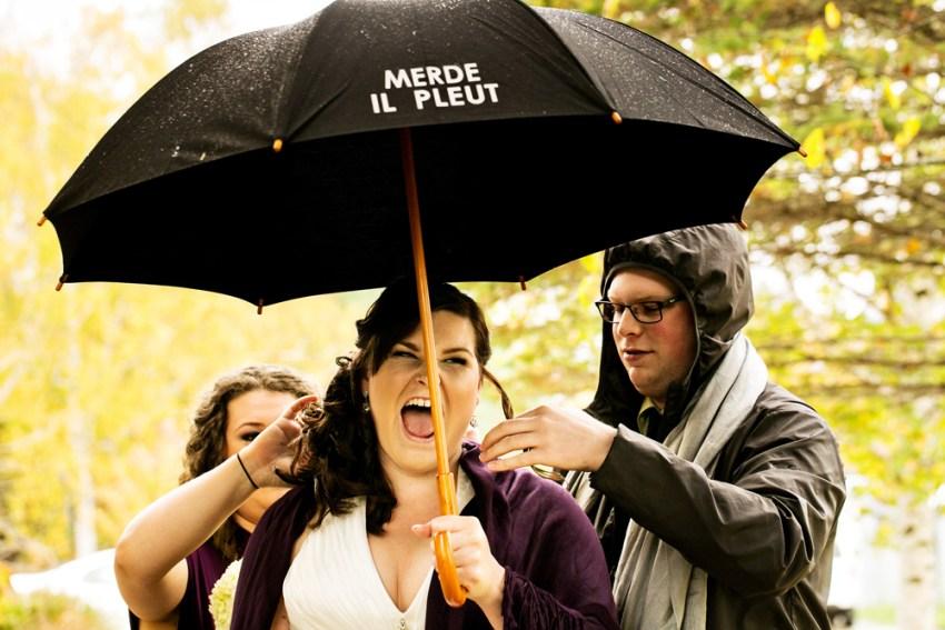 Rainy Day Wedding Photography