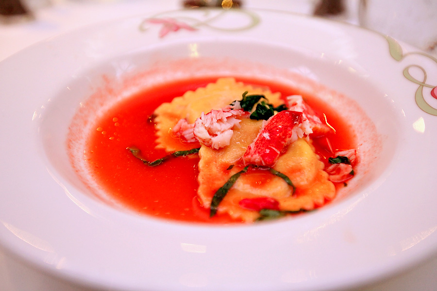 Lobster-Ravioli-Tomato-Broth