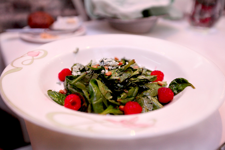 Spinach-Raspberry Salad