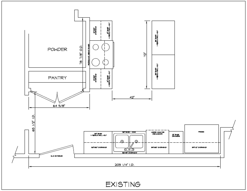 Kitchen Layout - Existing