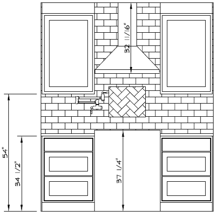 Range Wall Elevation