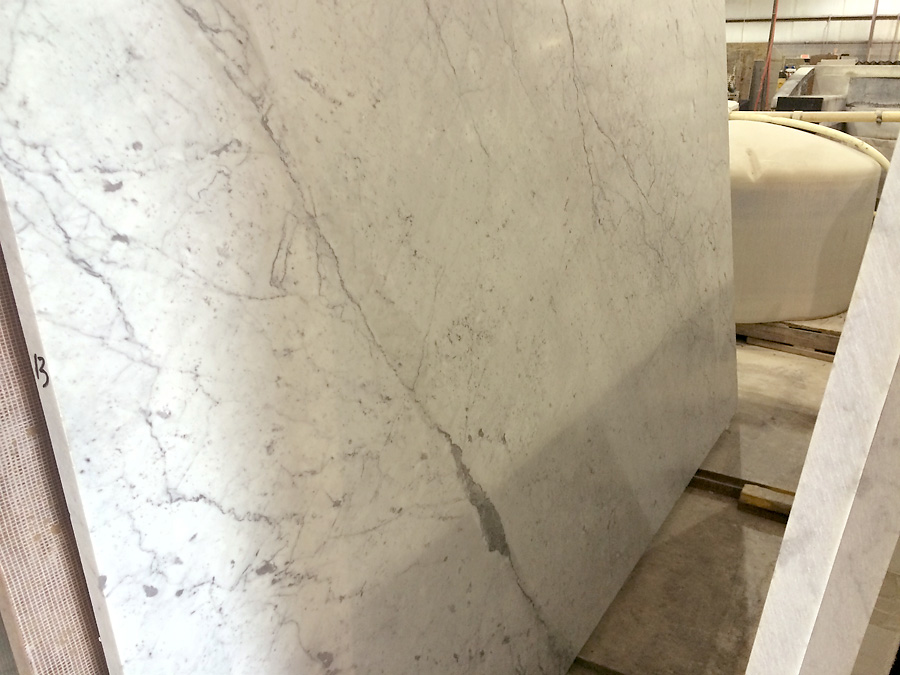 white carrara honed - our slab