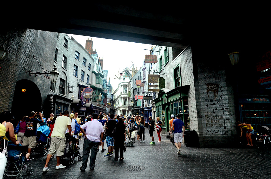 Crowds in Diagon Alley