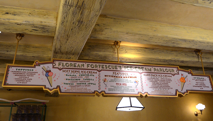 Florean Fortescue's Menu