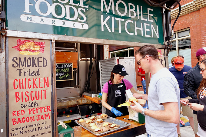 2015 International Biscuit Fest Whole Foods Truck Smoked Fried Chicken Biscuit