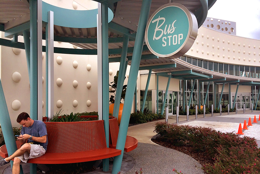 Cabana Bay Beach Resort bus stop