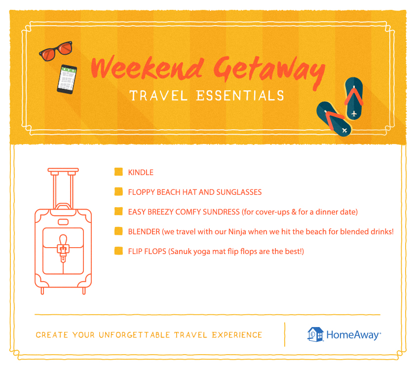K&R Adventures_Weekend Getaway Essentials
