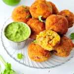 Arroz con Pollo Rice Balls with Spicy Cilantro Dip