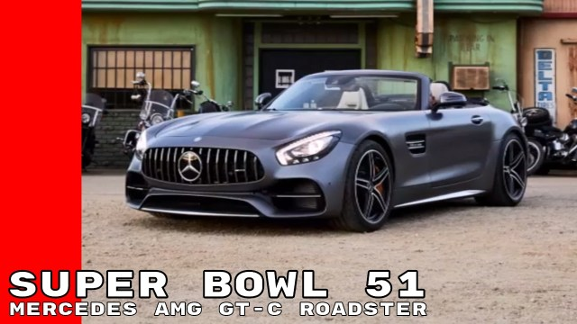 Super Bowl 51 2018 Mercedes AMG GT C Roadster Commercial Trailer