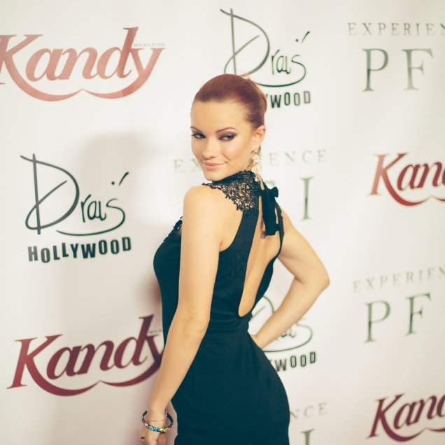 actress Caitlin O'Connor and Kandy cover girl