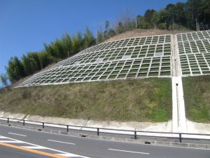 国道9号水原地区法面対策工事