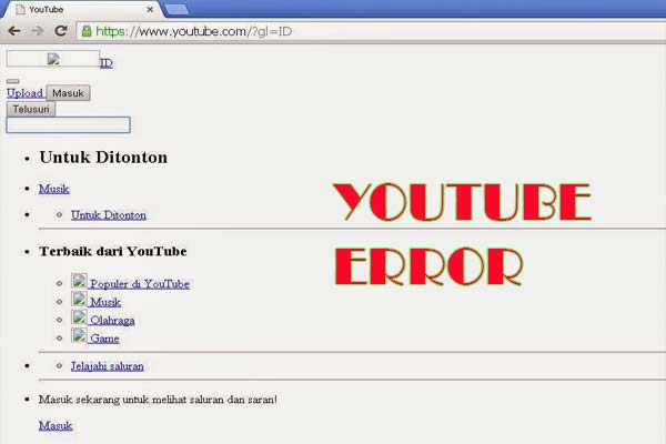 yotube error