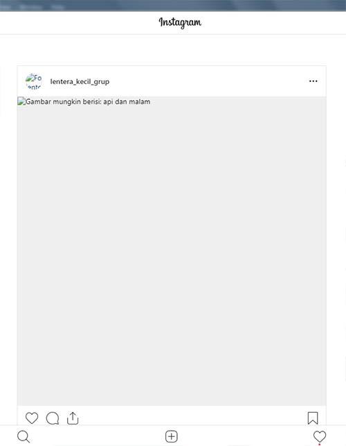 Akses Instagram Via PC Error