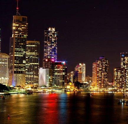 Kangaroo point brisbane night