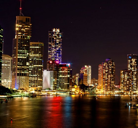 Kangaroo point brisbane night