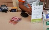 saat check in di lobby Harris Resort Barelang