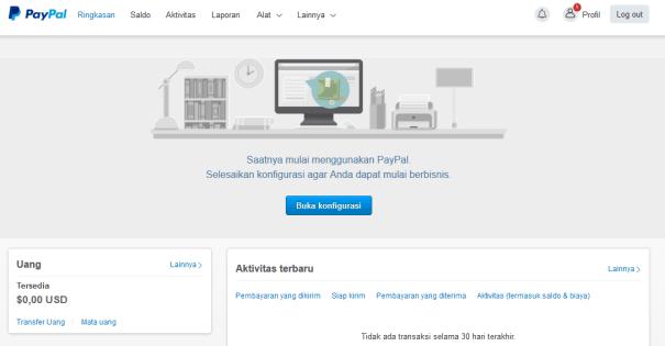 cara mendaftar akun paypal terbaru