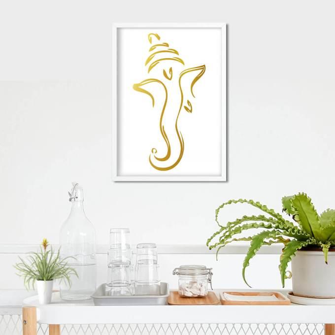Ganesh Wall Art, Gold Foiled (GFW16)