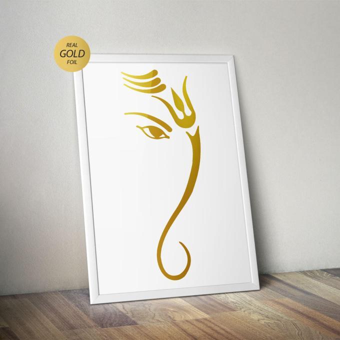 Ganesh Wall Art, Gold Foiled (GFW23)