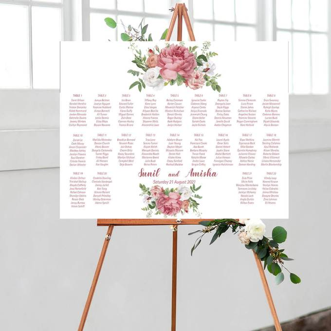 Floral Wedding Seating Chart – 11