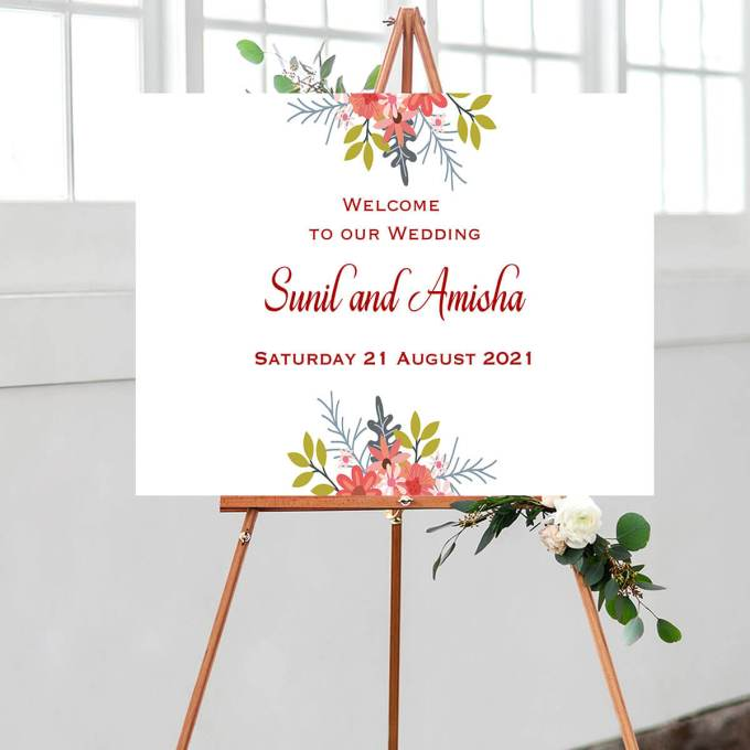Floral Wedding Welcome Sign – 4