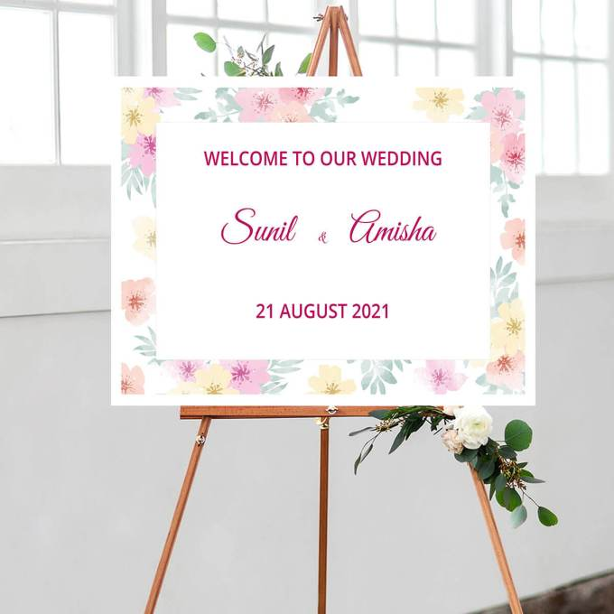 Floral Wedding Welcome Sign – 7