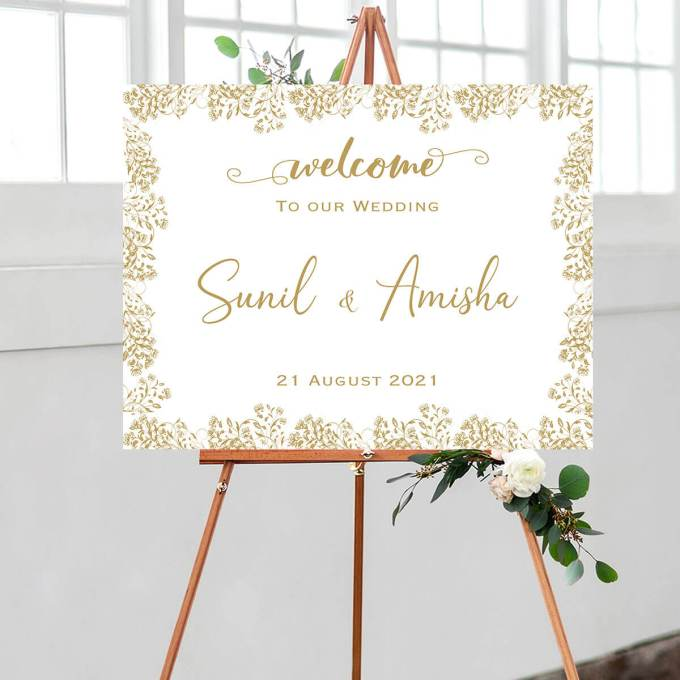 Floral Wedding Welcome Sign – 9