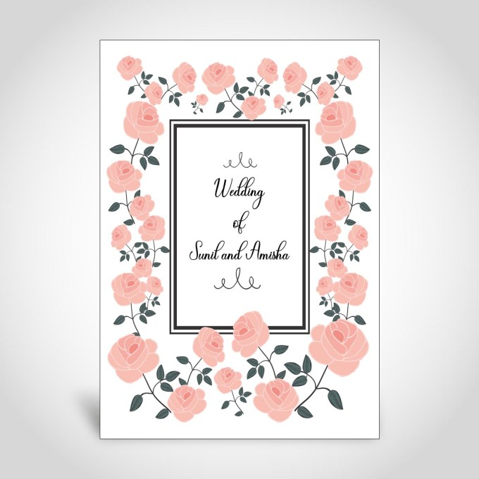 Floral Indian Wedding Card – CFK166