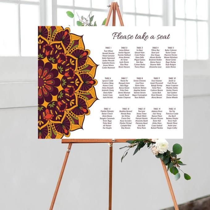 Mandala Wedding Seating Chart – 1