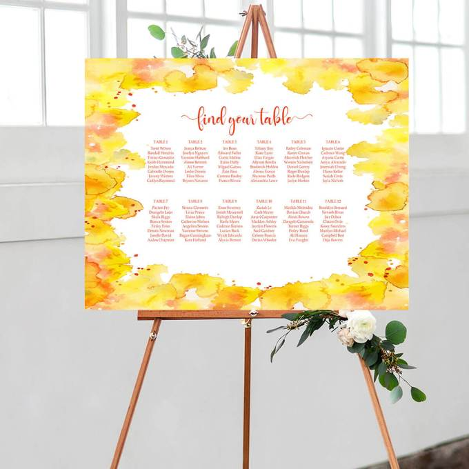 Wedding Seating Chart – Border – 2