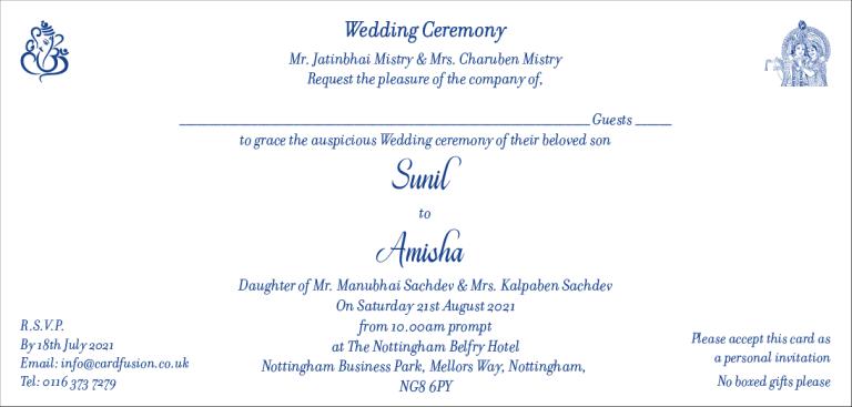 Hindu Wedding Invitation Wordings CardFusion