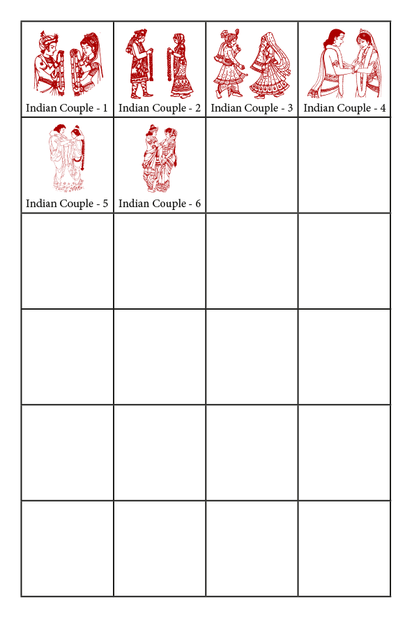 Indian Wedding Couples - Symbols CardFusion