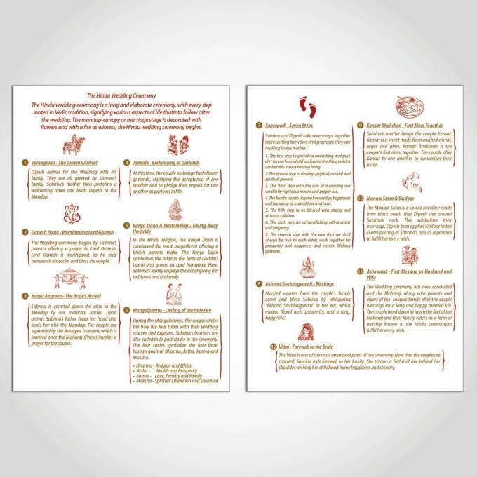 Hindu Wedding Order of Service A5 – 3