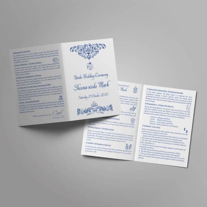 Hindu Wedding Order of Service Booklet – 7