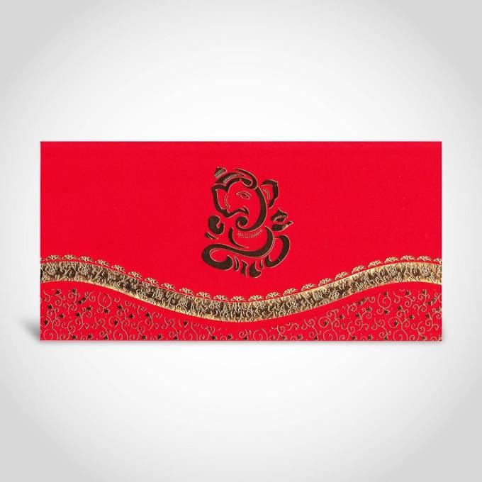 Red and Gold Hindu Wedding Card – CFK1