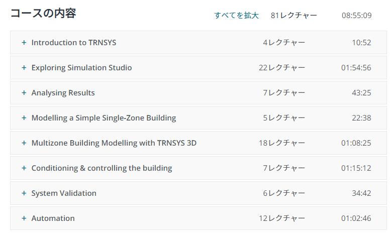 TRNSYSオンラインラーニングコースの内容